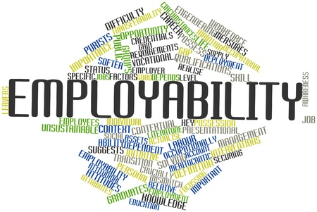 Abstract word cloud for Employability with related tags and terms Stock Photo - 17196963