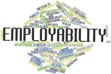 Abstraktes Wort cloud for Employability mit verwandten Tags und Begriffe