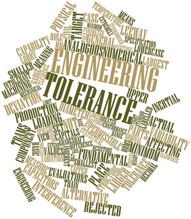 diameter: Abstract word cloud for Engineering tolerance with related tags and terms Stock Photo