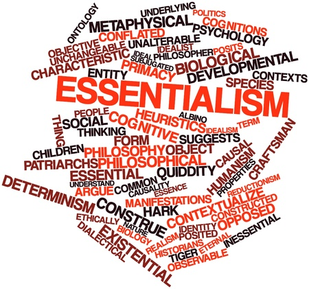 Abstract word cloud for Essentialism with related tags and terms Stock Photo - 17197967