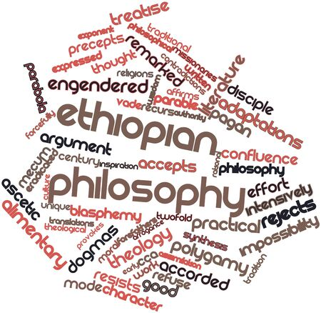 Abstract word cloud for Ethiopian philosophy with related tags and terms
