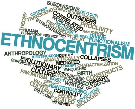 desprecio: Nube palabra abstracta para Etnocentrismo con etiquetas y t�rminos relacionados