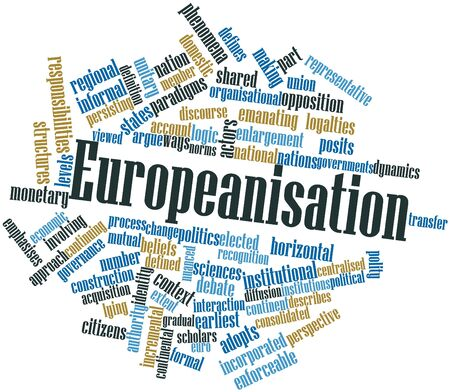 organisational: Abstract word cloud for Europeanisation with related tags and terms