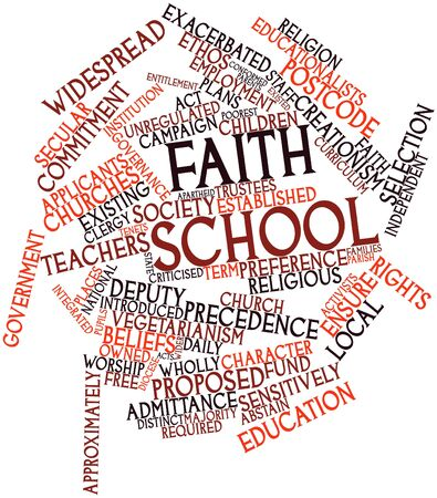 precedence: Abstract word cloud for Faith school with related tags and terms
