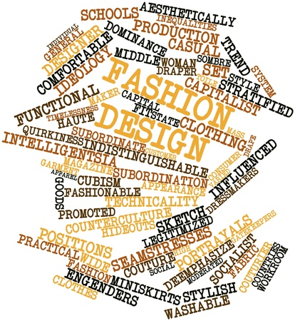 counterculture: Abstract word cloud for Fashion design with related tags and terms Stock Photo