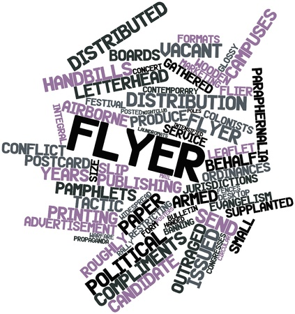 street party: Abstract word cloud for Flyer with related tags and terms Stock Photo