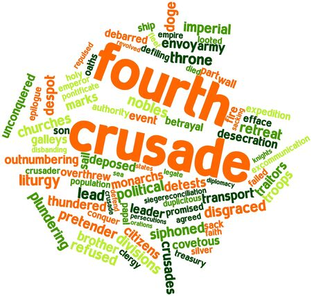 Abstract word cloud for Fourth Crusade with related tags and terms Stock Photo - 17197522