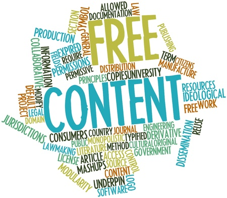 Abstract word cloud for Free content with related tags and terms Stock Photo - 17197370
