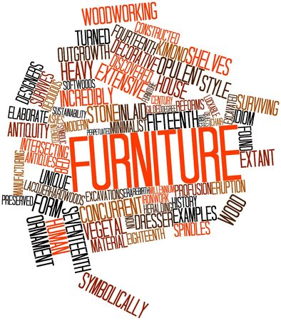 articles of furniture: Abstract word cloud for Furniture with related tags and terms