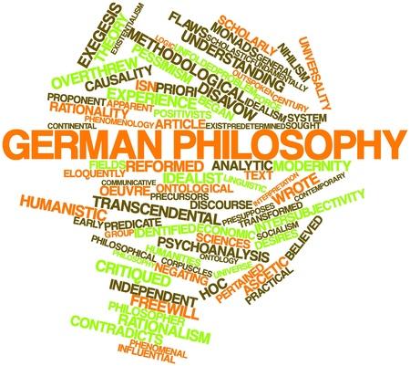priori: Word cloud astratto per la filosofia tedesca con tag correlati e termini