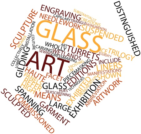 manifestations: Abstract word cloud for Glass art with related tags and terms