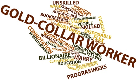 Abstract word cloud for Gold-collar worker with related tags and terms