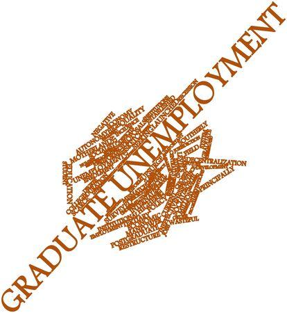 eingeschifft: Abstraktes Wort cloud for Graduate Arbeitslosigkeit verwandte Tags und Begriffe Lizenzfreie Bilder