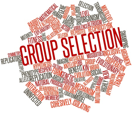 Abstract word cloud for Group selection with related tags and terms
