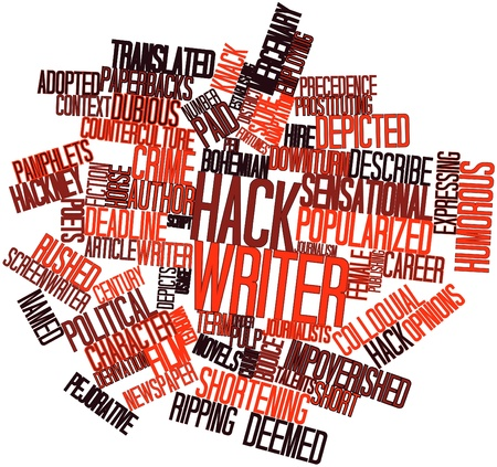 deemed: Abstract word cloud for Hack writer with related tags and terms