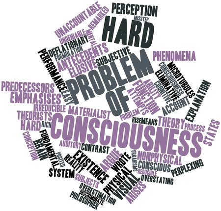 posited: Abstract word cloud for Hard problem of consciousness with related tags and terms Stock Photo