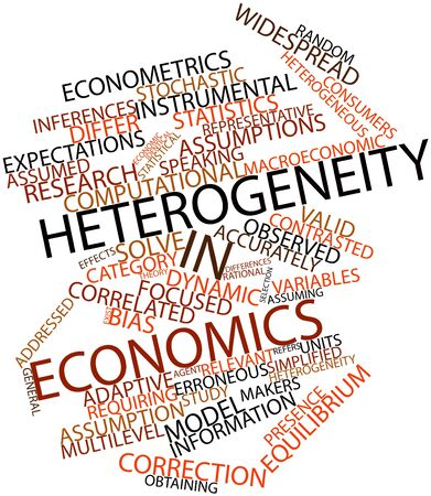 macroeconomic: Abstract word cloud for Heterogeneity in economics with related tags and terms