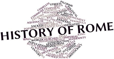 ferro: Abstract word cloud for History of Rome with related tags and terms