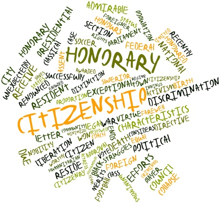 citizenry: Abstract word cloud for Honorary citizenship with related tags and terms