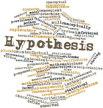 hipótesis: Nube palabra abstracta por hipótesis con las etiquetas y términos relacionados