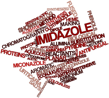 histamine: Abstract word cloud for Imidazole with related tags and terms Stock Photo