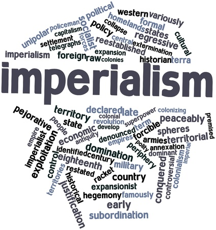 telegraphs: Abstract word cloud for Imperialism with related tags and terms