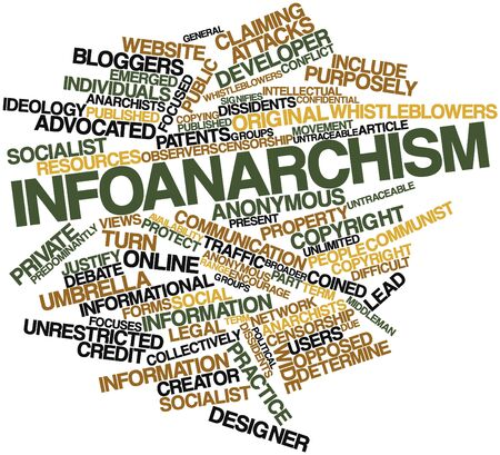 patents: Abstract word cloud for Infoanarchism with related tags and terms Stock Photo