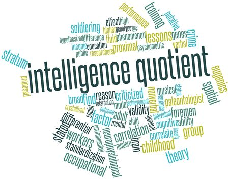 keywords adult: Abstract word cloud for Intelligence quotient with related tags and terms