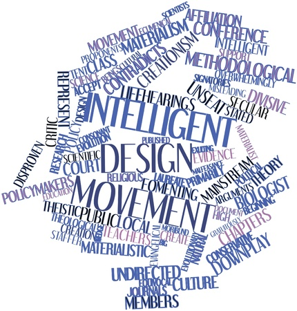 proponents: Abstract word cloud for Intelligent design movement with related tags and terms