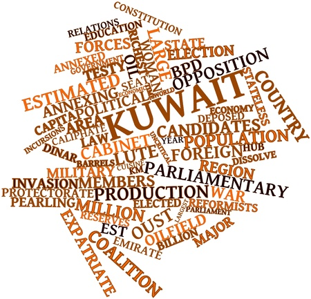 Abstract word cloud for Kuwait with related tags and terms Stock Photo - 17198233