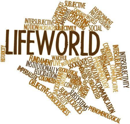 synthesize: Abstract word cloud for Lifeworld with related tags and terms
