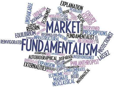 implicit: Abstract word cloud for Market fundamentalism with related tags and terms