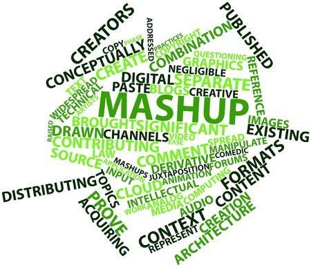 Abstract word cloud for Mashup with related tags and terms Stock Photo - 17197518