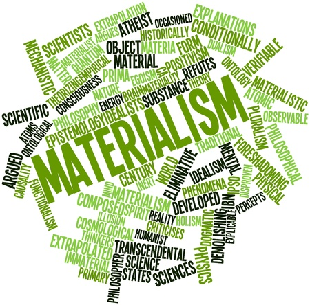 materia: Abstract word cloud for Materialism with related tags and terms