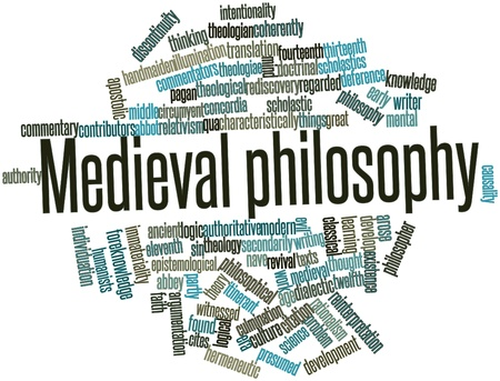 Abstract word cloud for Medieval philosophy with related tags and terms Stock Photo - 17197736