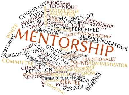 contexts: Abstract word cloud for Mentorship with related tags and terms Stock Photo
