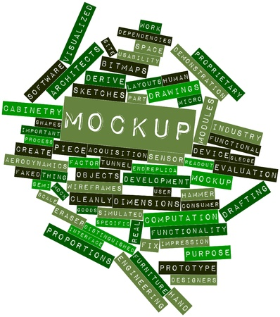 derive: Abstract word cloud for Mockup with related tags and terms