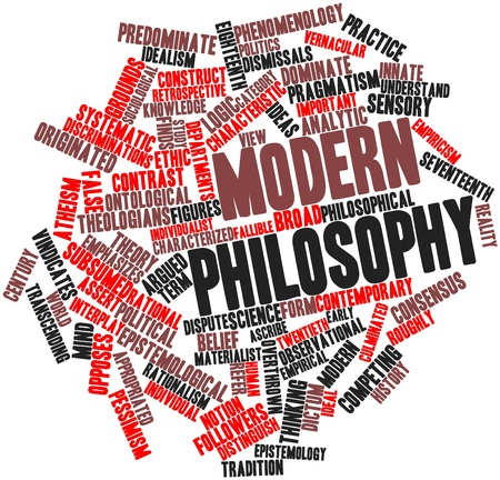 observational: Abstract word cloud for Modern philosophy with related tags and terms