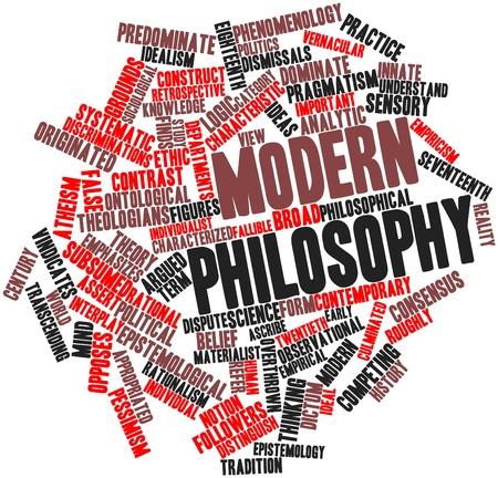 observational: Nube de palabras abstracto de la filosof�a moderna con etiquetas y t�rminos relacionados