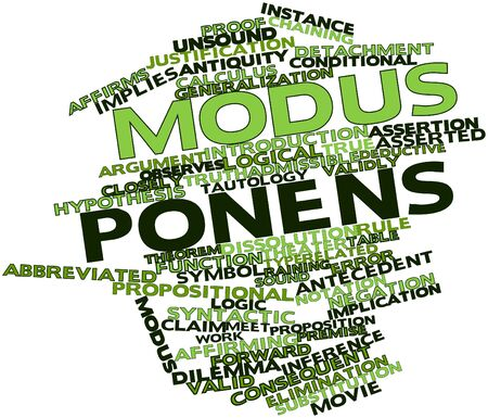 Abstract word cloud for Modus ponens with related tags and terms
