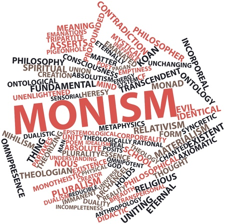 Abstract word cloud for Monism with related tags and terms Stock Photo - 17198140