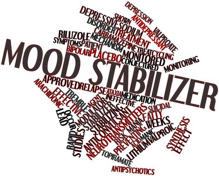 relapse: Abstract word cloud for Mood stabilizer with related tags and terms