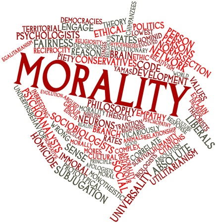 psychopathy: Abstract word cloud for Morality with related tags and terms