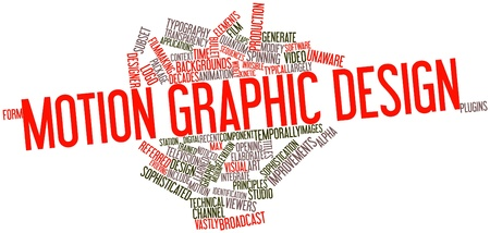 Abstract word cloud for Motion graphic design with related tags and terms Stock Photo - 17196349