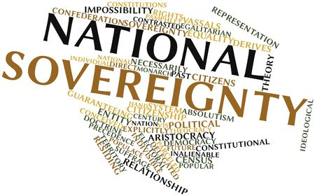 translates: Abstract word cloud for National sovereignty with related tags and terms
