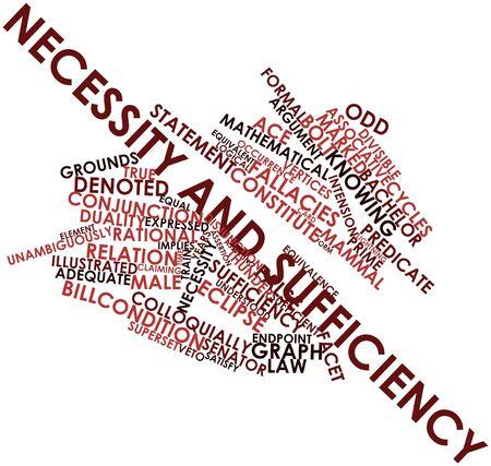 unmarried: Nube palabra abstracta por Necesidad y suficiencia con las etiquetas y t�rminos relacionados