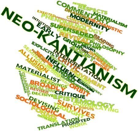 priori: Word cloud astratto per neo-kantismo con tag correlati e termini Archivio Fotografico