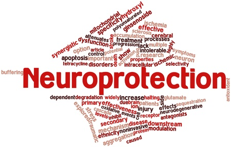 modulation: Abstract word cloud for Neuroprotection with related tags and terms