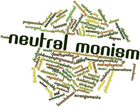 strictly: Abstract word cloud for Neutral monism with related tags and terms Stock Photo