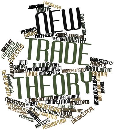 quotas: Abstract word cloud for New trade theory with related tags and terms